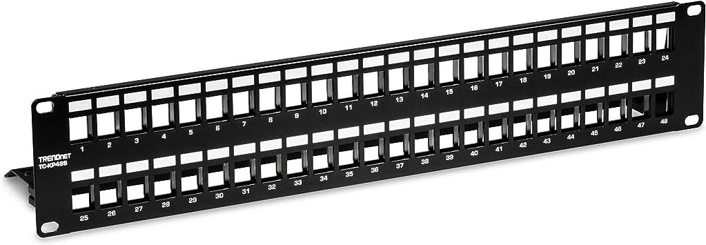 "2U 19/"" 24 port Blank panel for Keystone Jack"