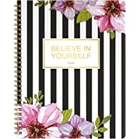 """2020 Planner - Weekly & Monthly Planner with 12 Monthly DIY Tabs, January 2020 - December 2020, Flexible Cover, 8"""" x 10"""", Twin-Wire Binding with White Paper"""