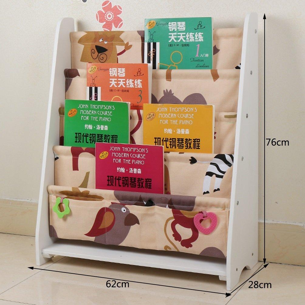 B Clothes UK- Kreative Boden Bücherregal Wohnzimmer Moderne Einfache Schrank Bücherregal Display Regale 62x76x28 cm Regal (Farbe   B)