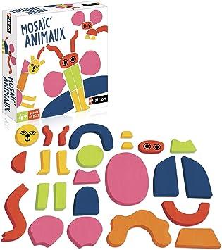 Nathan Mosaic Animaux Un Jeu D Imagination En Bois Pour Enfant Des 4 Ans Amazon Fr Jeux Et Jouets