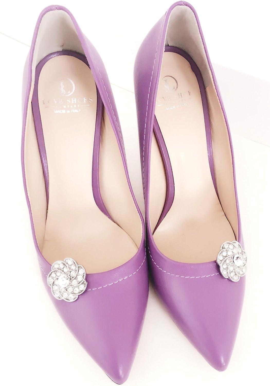 Love Shoes Lot de 2 clips pour chaussures pour femme Argent/é Strass /Él/égant Diamant Accessoire de bijoux pour chaussures Broches Mariage Chaussures Blogger Mode Bijoux Paillettes Glam Instyle