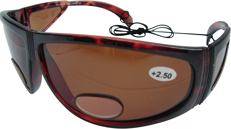 Bifocal Polarised Sunglasses Wrap Around Fishing Sun Readers 100/% UV Protected