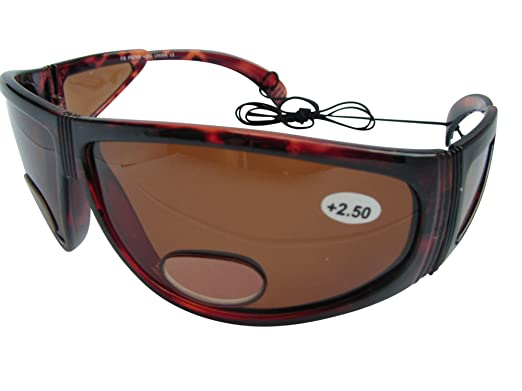 Gafas de sol polarizadas Pesca Caza dominante en + 3,00 deportes AMBER por WorldofGlasses