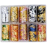 10 Style Mesh Nail Sticker DIY Gold Silver 3D Net Line Tape on Nails Adhesive Silk Foil Nail Art Decorations Polish Decals