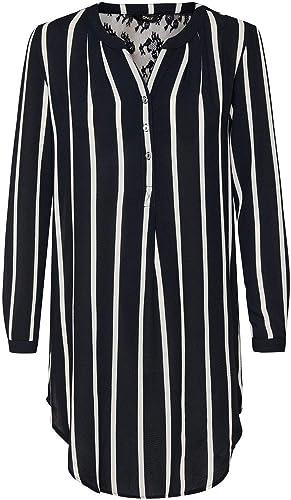 Only Camisa Larga para Mujer onlAIDA 2.0 Night Sky (40 ...
