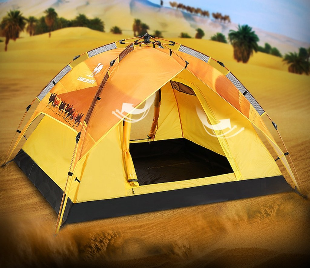Für 3-4 Personen im Zelt Geschwindigkeit Automatische öffnung Double Sonne Regen Jahreszeiten Camping Zelt Zelt