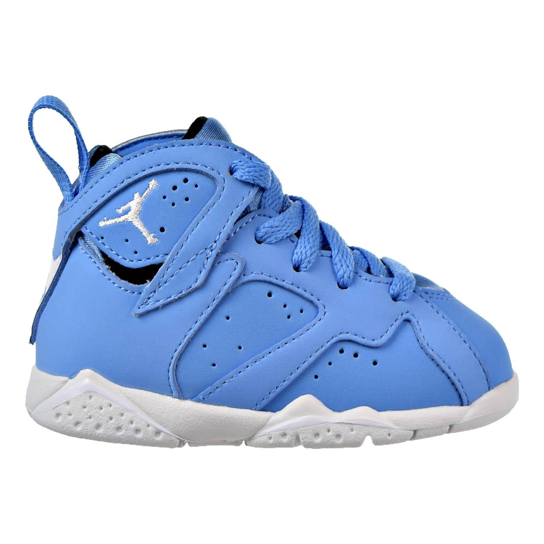 Jordan Retro 7'' Pantone University Blue/White-White (Toddler) (10 M US Toddler)