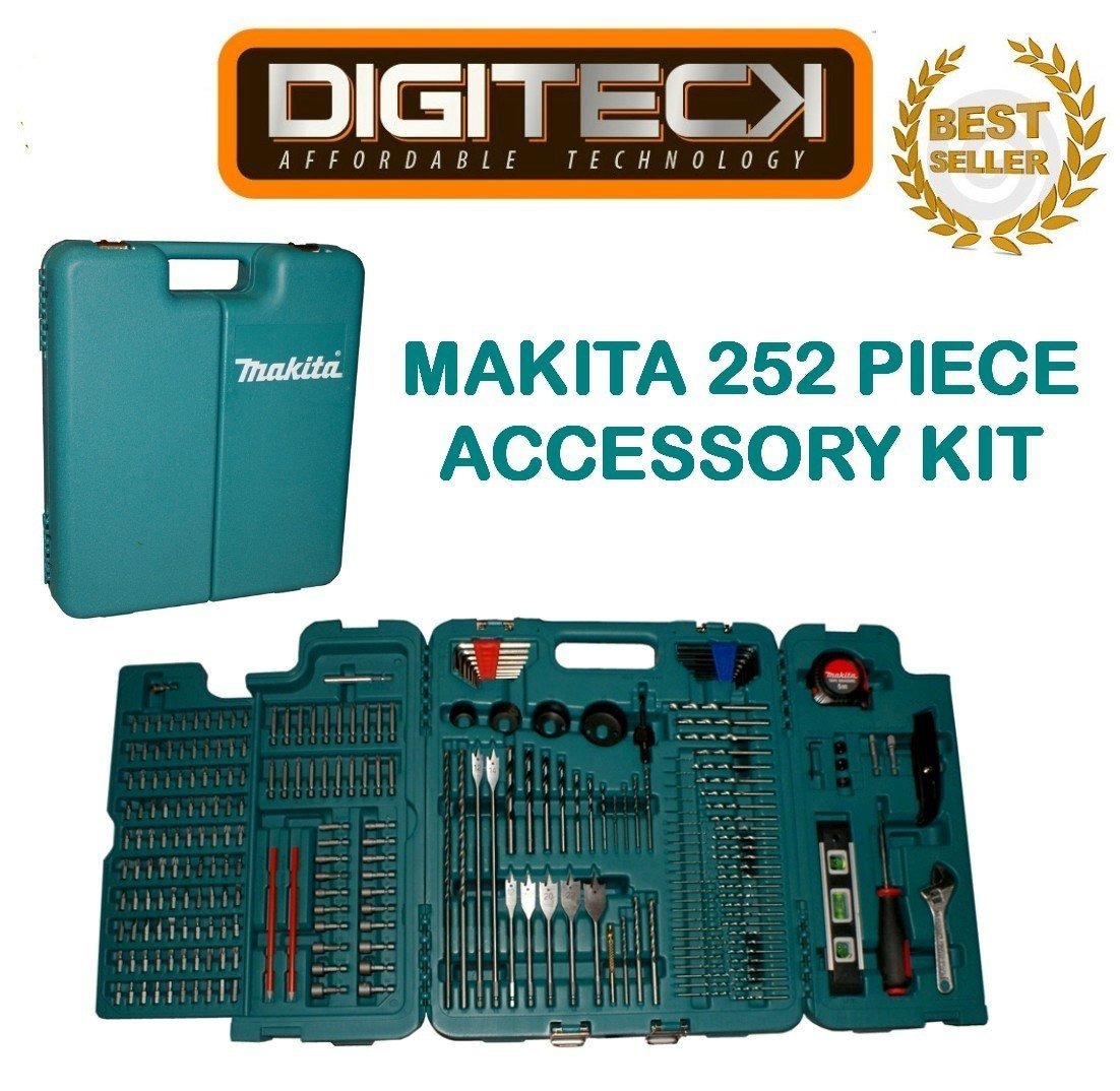 MAKITA 252 PIECE ACCESSORY KIT IN BLOW MOULDED CASE SCREWDRIVER, DRILLBITS GREAT FOR BUILDERS,TRADE,DIY [並行輸入品] B06XFDJDHJ