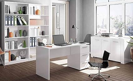 Miroytengo Conjunto Muebles despacho Blanco mobiliario ...