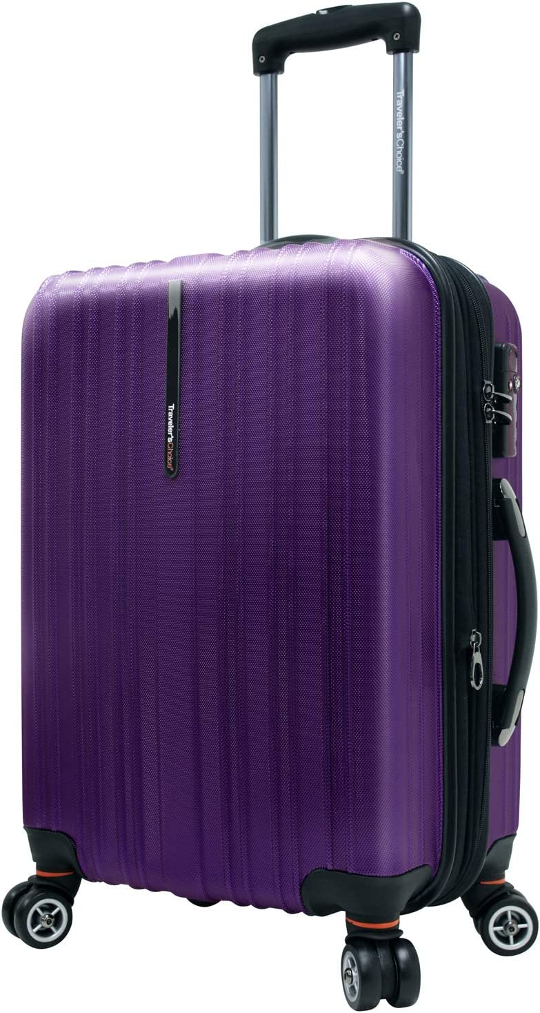 Travelers Choice Tasmania 100/% Pure Polycarbonate Expandable Spinner Luggage Navy