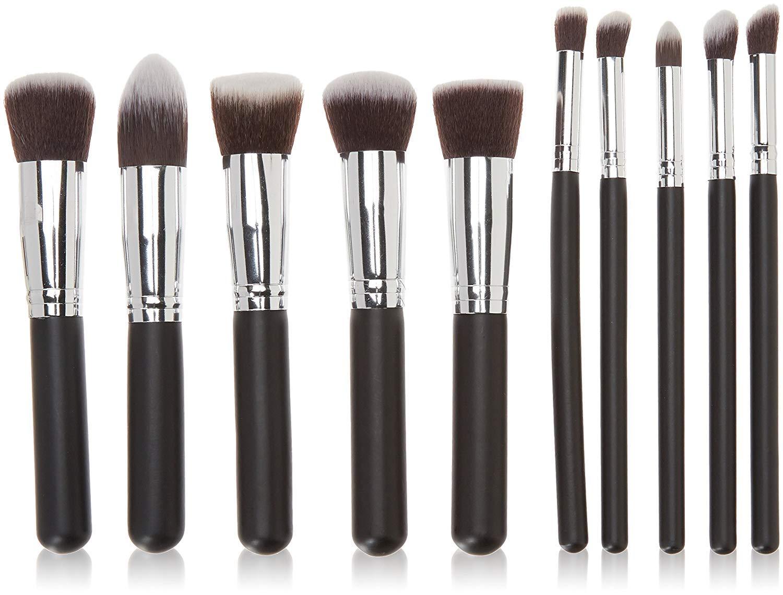 Miss & Mam Phenovo Makeup Brushes Set Tool Pro Foundation Eyeliner Eyeshadow (Black): Amazon.in: Beauty