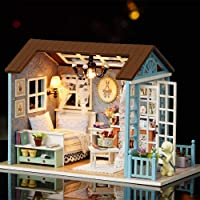 DIY Miniature Dollhouse Kit Realistic Mini 3D Wooden House Room Craft with Furniture LED Lights Christmas Birthday Gift