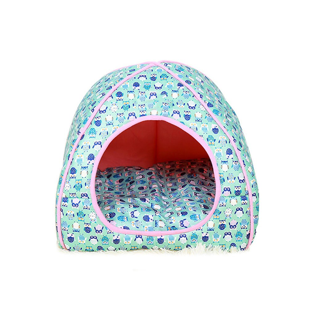 bluee L bluee L Pet bed Twill Calico Kennels Soft and comfortable Breathable Waterproof Non-slip Durable Multicolor Optional A3 Dog Bed (color   bluee, Size   L)