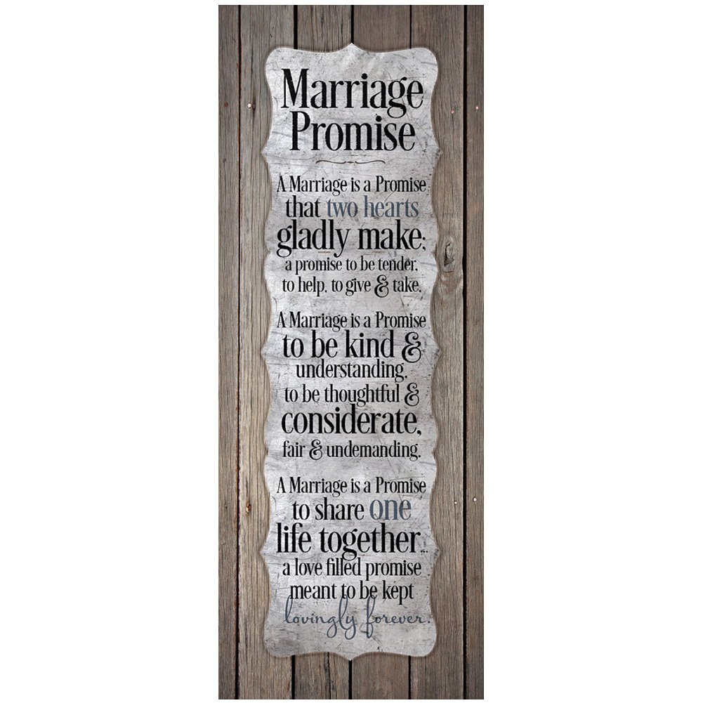 Poetic Marriage Promise Plaque
