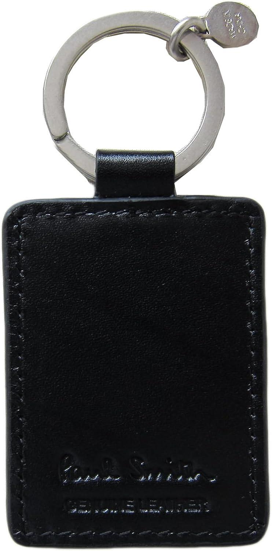 NEW Signature Multi Stripe Black Leather Key Fob RRP £75 Paul Smith Keyring