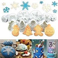 Anokay set 10 pz Formine ad Esplsuesione per Biscotti Bianco per  Decorazioni Biscotti Decorazioni in Forma 92695490604a