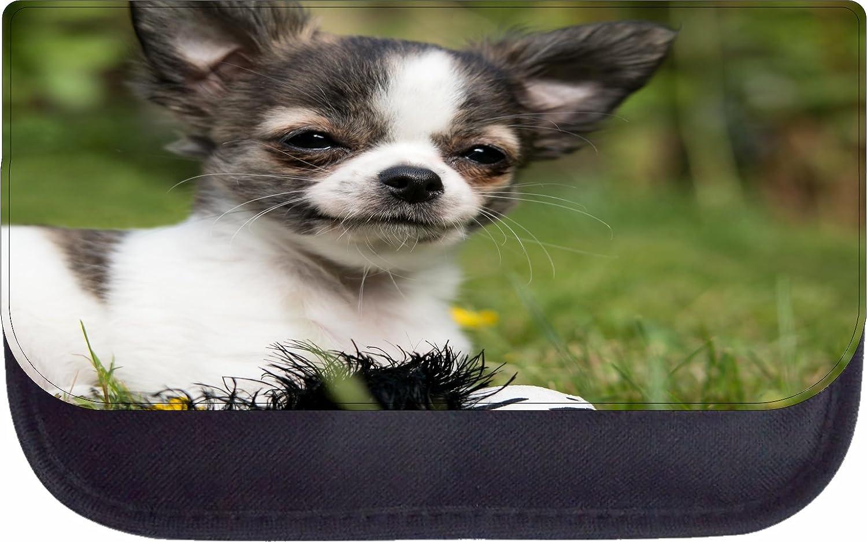 Happy Chihuahua Puppy Dog Black School Backpack /& Pencil Bag