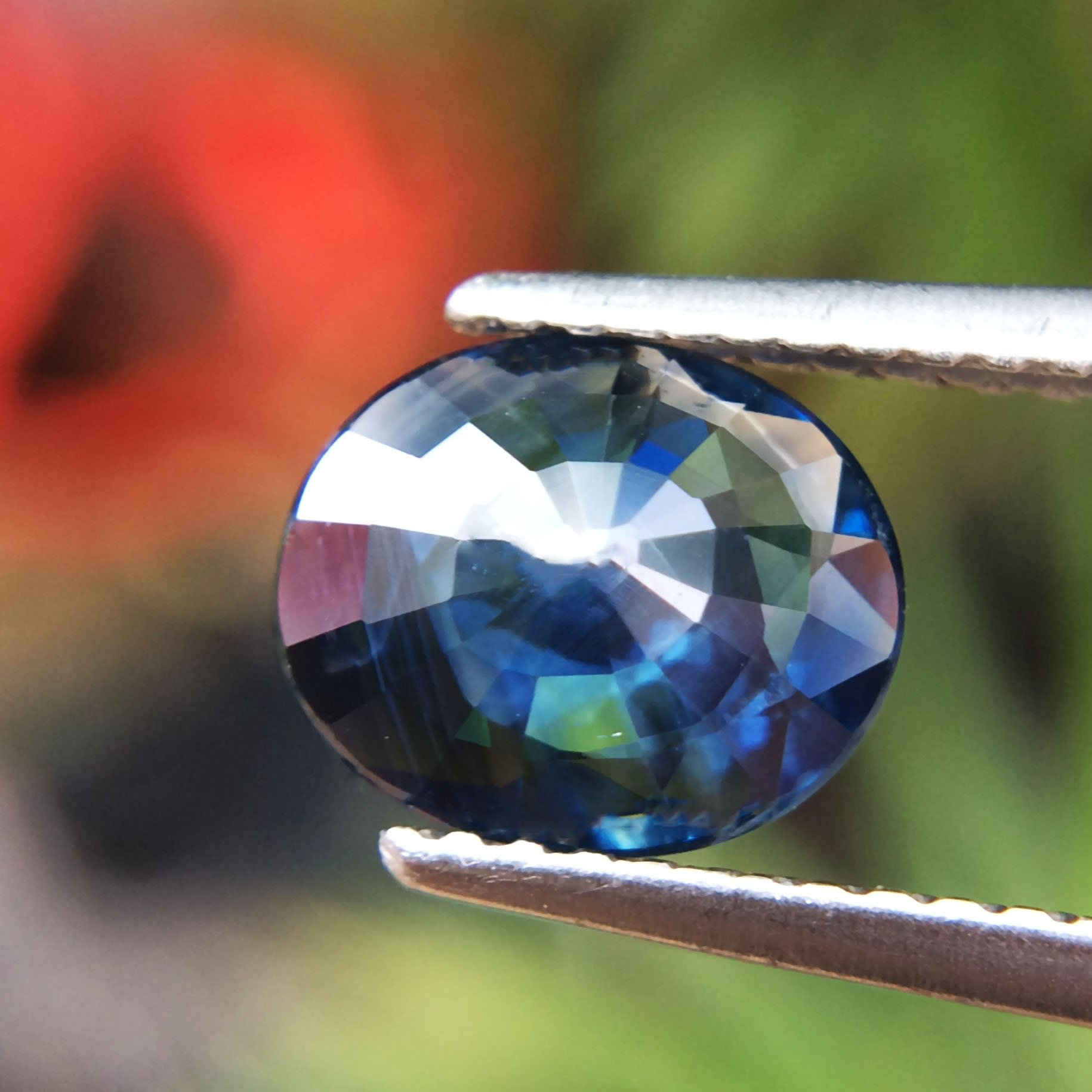 1.51ct Natural Oval Unheated Blue Sapphire Thailand #B by Lovemom (Image #5)