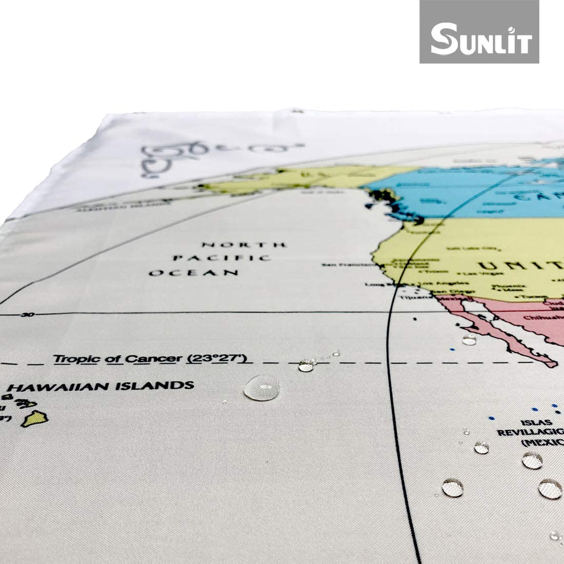 Duschvorhang Sunlit-Design Blue Tree Ringe