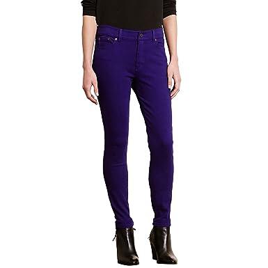 Lauren Ralph Lauren Women's Premier Skinny Jeans (10, Purple)
