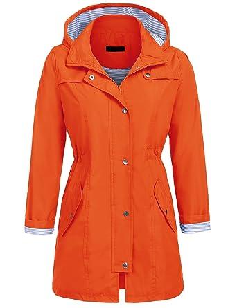 LAMORE - Chaqueta - Parka - para Mujer Naranja XL