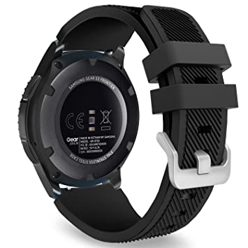 MoKo Samsung Gear S3 Frontier/Galaxy Watch 46mm / Classic/Moto 360 2nd Gen 46mm Correa - Watch Band Deportiva de Silicona Suave Reemplazo Sport Band - ...