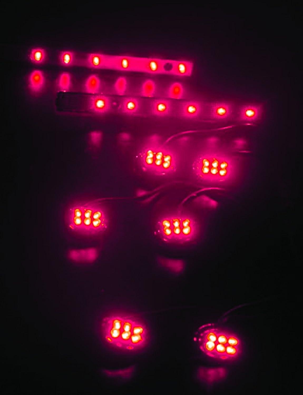 Street FX LK-3460 Pink 2 Strip//6 Pod ElectroPod Kit with Chrome Base
