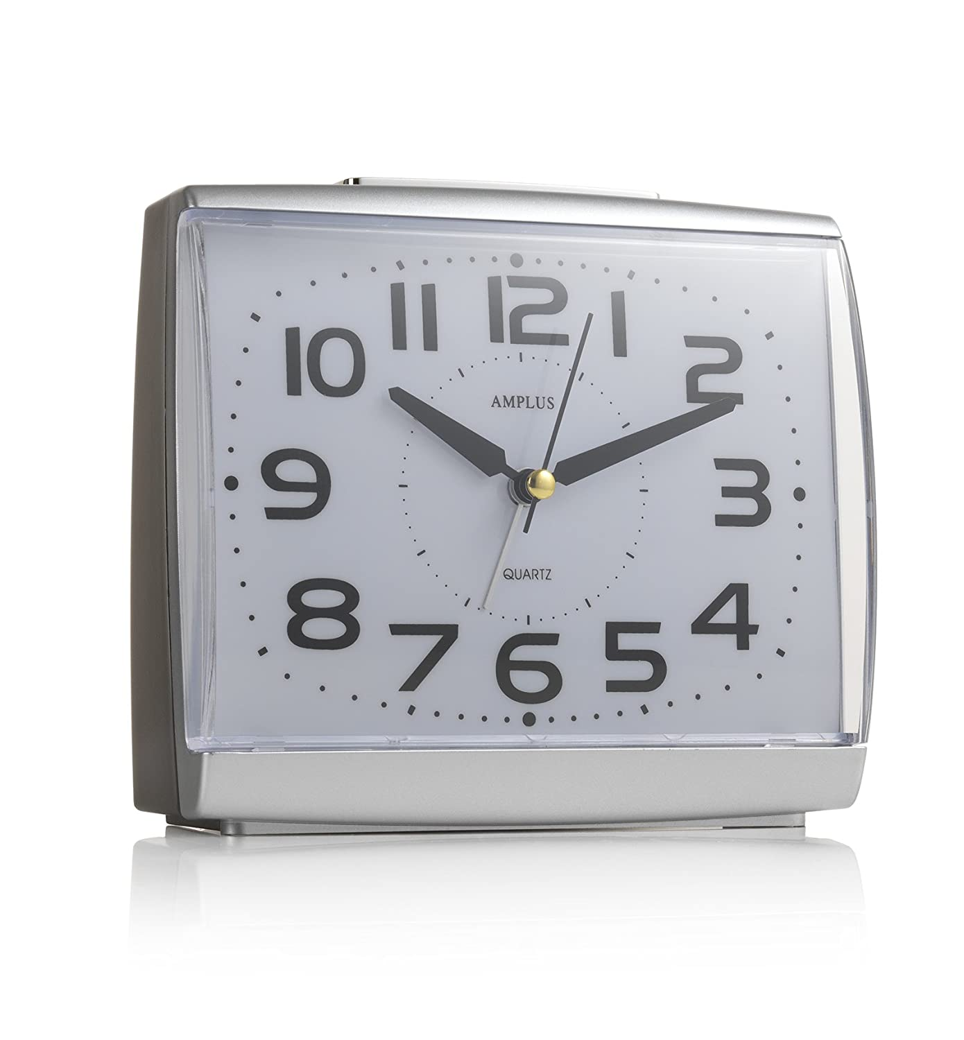 KG Homewares Large Numbers Dial With Silent Sweep Light Snooze Alarm Clock The Homewares Company