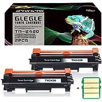 GLEGLE 2 PK Compatible Brother TN-2420 TN2420 TN2410 [con Chip] Cartucho de Toner para HL-L2310D HL-L2350DW HL-L2370DN…