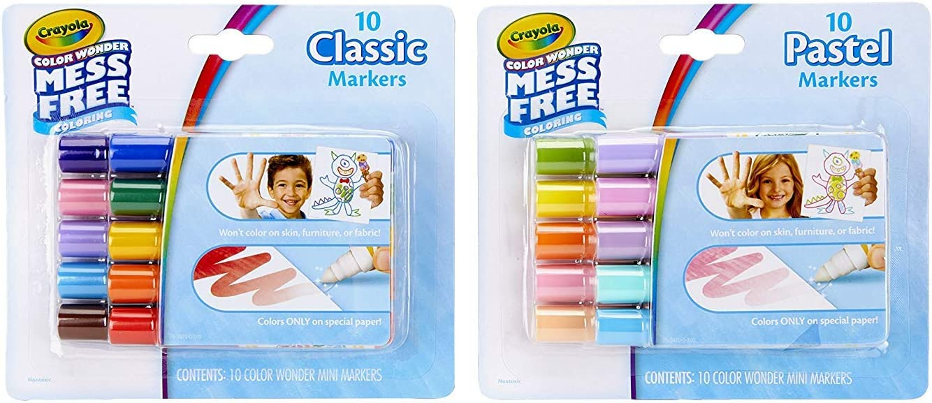 Crayola Color Wonder Mess Free Coloring Kit 80piece Toddler Toys Stocking Stuffers Gift