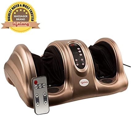 008465b8bd0d Lifelong LLM72 40W Foot Massager With Flexible Rubber Kneading Pads  (Brown)  Amazon.in  Health   Personal Care