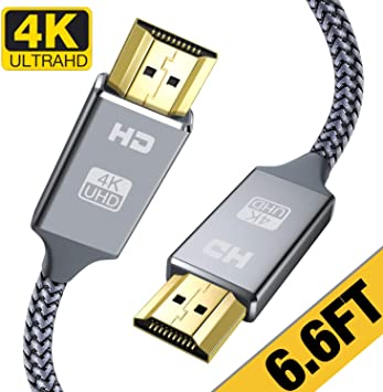 Up to v2.1 Standard 4K//HD TV to Blu-Ray Lot Braided Long 50ft HDMI Cable Cord