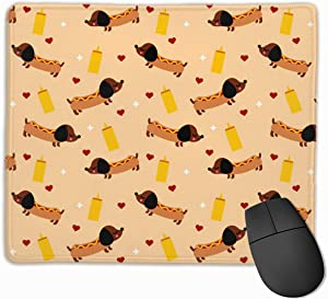 Weiner Dog Mouse Pad Customized, Premium Rectangle Mouse Pad, Non-Slip Rubber Gaming Mouse Pad for Laptop, Computer & PC, 11.8 X 9.8 Inch.