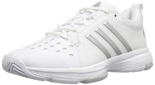 cb84cd015b adidas Women's Barricade Classic Bounce Tennis Shoes, Footwear White/Silver  Metallicallic/Light Grey