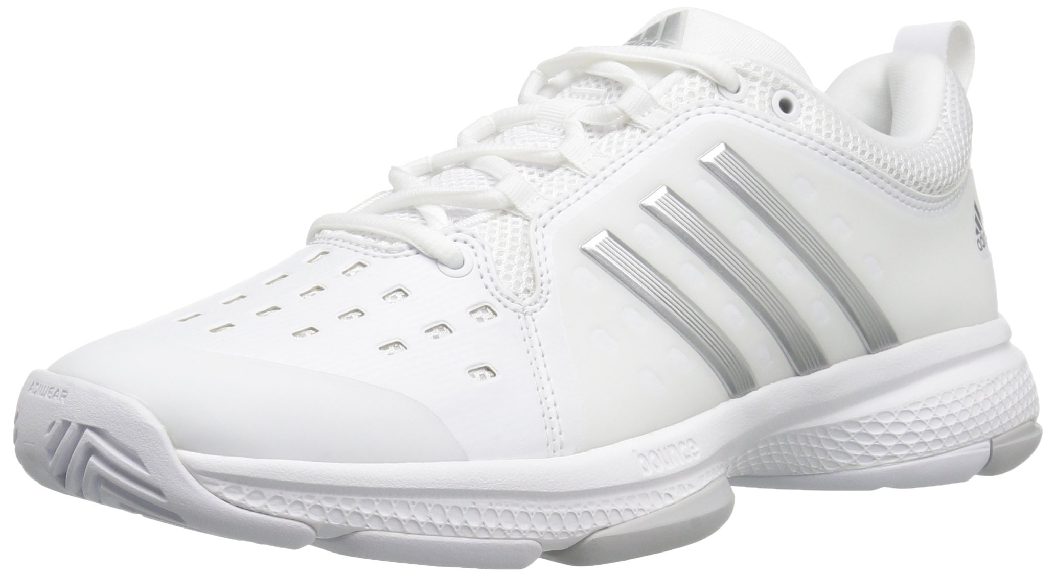 quality design a84f1 0532b adidas Performance Womens Barricade Classic Bounce Tennis Shoes,  WhiteMetallic SilverLight Solid