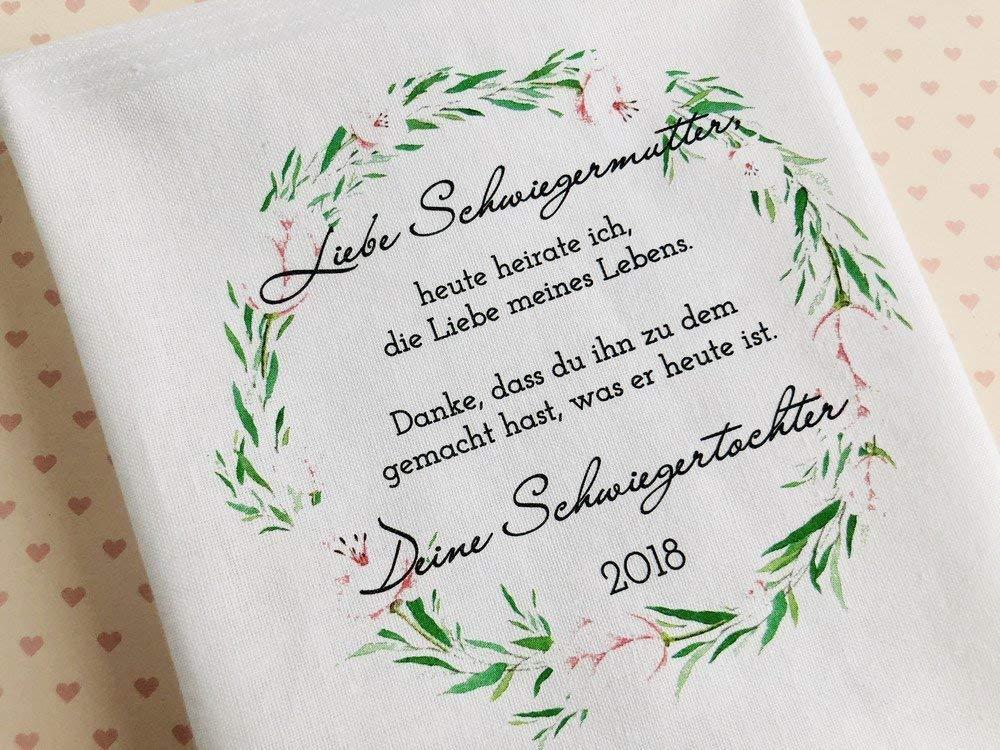 Hochzeit Geschenk Schwiegermutter - Stofftaschentuch für ...