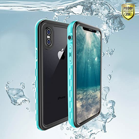 new product 6dd7b 4f877 SHARKSBox iPhone X Waterproof Case for iPhone X/Xs Underwater Cover Full  Body Protective,Heavy Duty Protective Carrying Slim Case Shockproof IP68 ...
