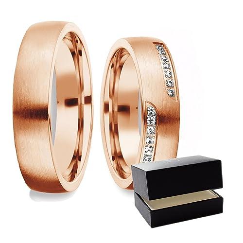 alianzas alianzas de anillos de compromiso anillo de oro rojo de la amistad (Plata 925