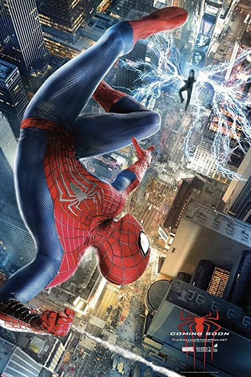 Amazon Com The Amazing Spider Man 2 2014 Movie Poster Thick Poster Original Size 24x36 Inch Andrew Garfield Emma Stone Jamie Foxx Posters Prints