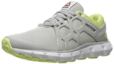 45bb8879401ba1 Reebok Women s Hexaffect Run 4.0 MTM Walking Shoe Skull Grey Lemon  Zest White