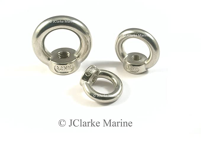 M6 M8 M10 M12 Stainless steel longshank eye bolts made from marine grade stainless 316 A4 4, M12x120mm