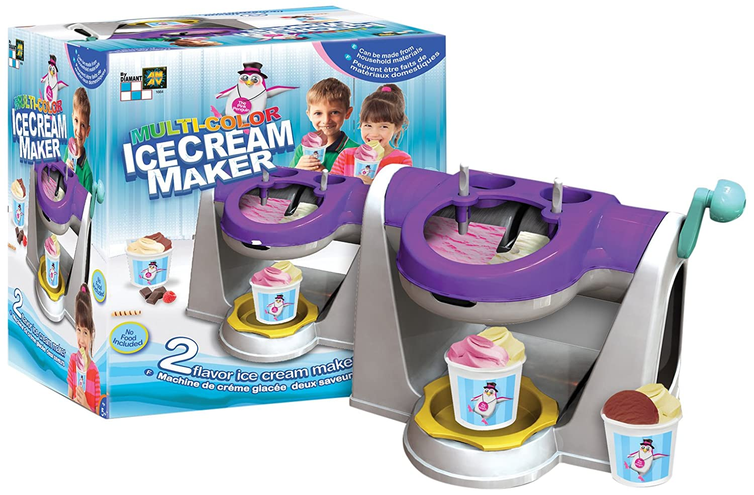 AMAV Multi-Color Ice Cream Maker Toy - DIY Make Your Own Ice Cream - Creates Two Flavors at Once AMAV Toys 1664