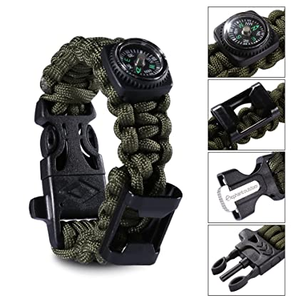 Paracord Bracelet Survival Gear Kit