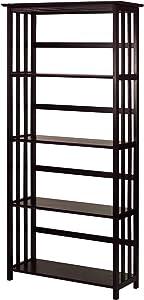 Casual Home Mission Style 5-Shelf Bookcase, Espresso (New)