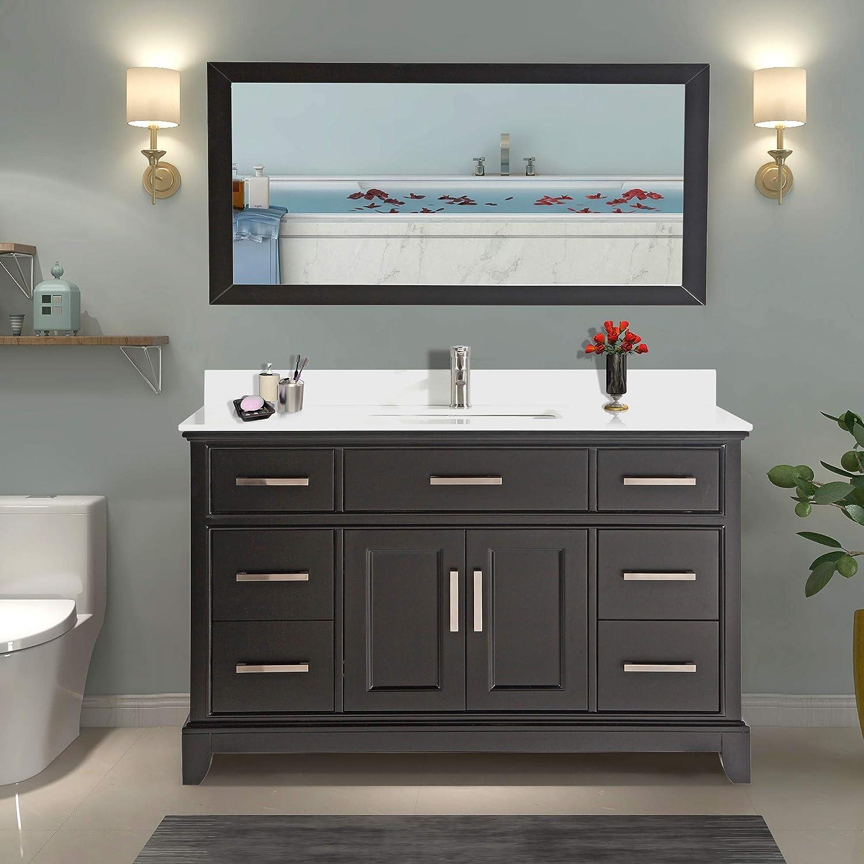 Amazon Com Vanity Art 60 Inch Single Sink Bathroom Vanity Set