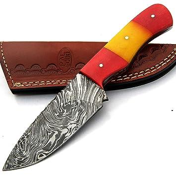 PAL 2000 SBRR-9411 Cuchillo de Hoja de Acero de Damasco ...