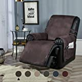 STONECREST Recliner Chair Cover, Water Resistant Faux Leather Slipcover, Washable Furniture Protector for Pets, Seat…