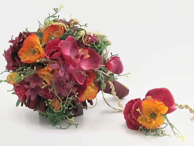 brautstrauß lilien und orchideen