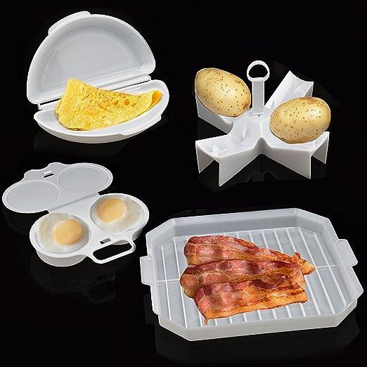 ASAB - Juego de 4 Piezas para microondas, Cocina y Desayuno ...