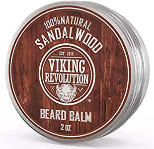 Best Deal Beard Balm with Sandalwood Scent and Argan & Jojoba Oils - Styles Strengthens & Softens Beards & Mustaches - Leave in Conditioner Wax for Men by Viking Revolution
